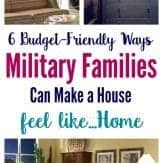 Military families, ready to turn your house into a home? You'll love these budget-friendly tips to transform your home. Sponsored by CORT.