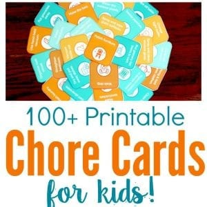 picture about Printable Chore Cards titled 100+ Printable Chore Playing cards for Youngsters towards Coach Obligation
