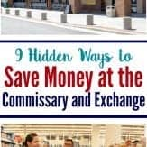 Save money at the commissary and exchange. Great ideas for military families to remember before shopping.