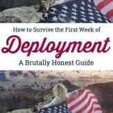 How to rock the first seven days of deployment. Things guaranteed to happen during the first week of deployment. #deployment #military #militaryspouse #militarysignificant other #militarygirlfriend #milso #firstweek