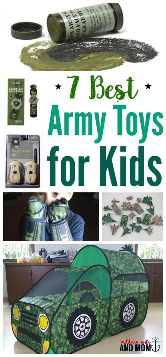 These are my ALL-TIME favorite army toys for kids! Especially great for military kids who want to role play. These kids' military toys inspire creativity.