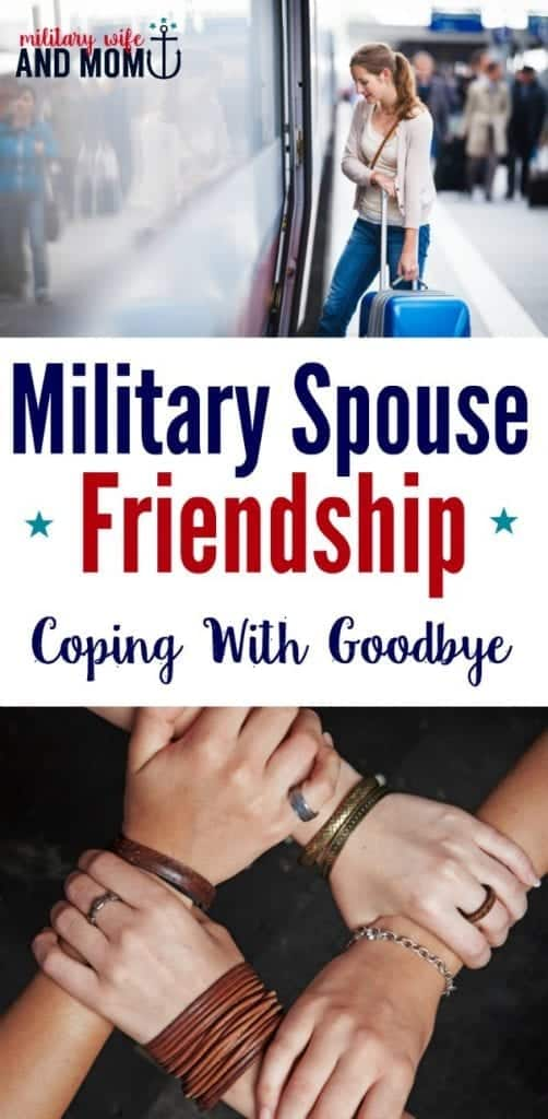 How to say goodbye to your military spouse friends. Beautiful message and story for military wives and military girlfriends to read before their next military PCS move.