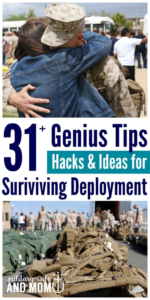Tips from military spouses ALL over the world! Best tips for surviving deployment as a military wife.