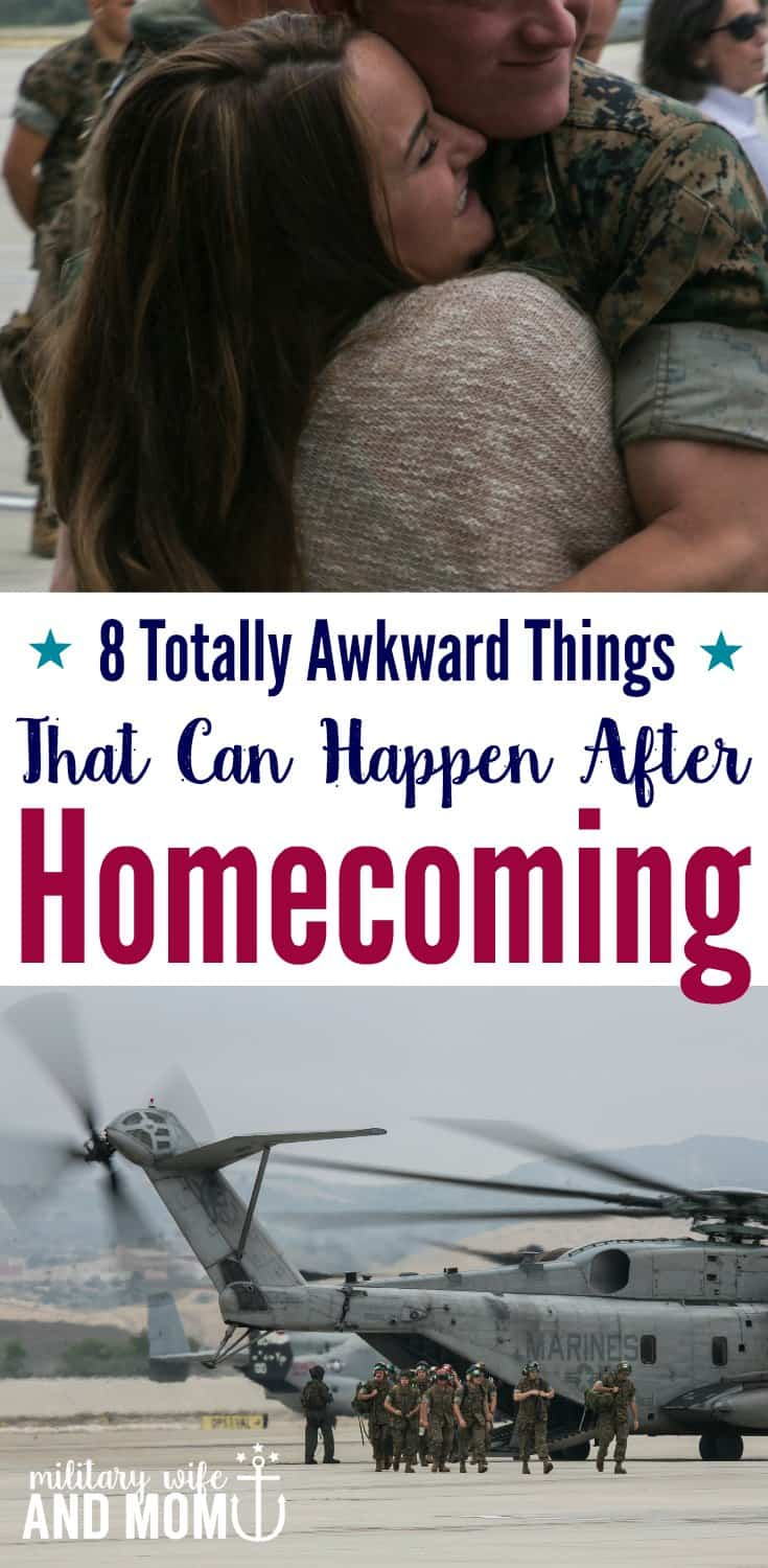 Totally awkward things that happen after a military homecoming