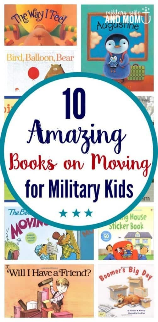 Moving books for military kids going through PCS move.
