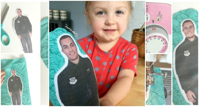 Learn how to make your own daddy doll for military kids. Under $5 cost. Perfect for military kids going through deployment.