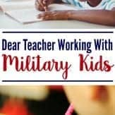 Dear teacher working with military kids. Here are some things you need to know. Military kids education.