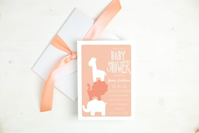 Use these unique baby shower invitations to create excitement around your event. Almost unlimited color options and custom samples to view. This post is sponsored by Basic Invite.