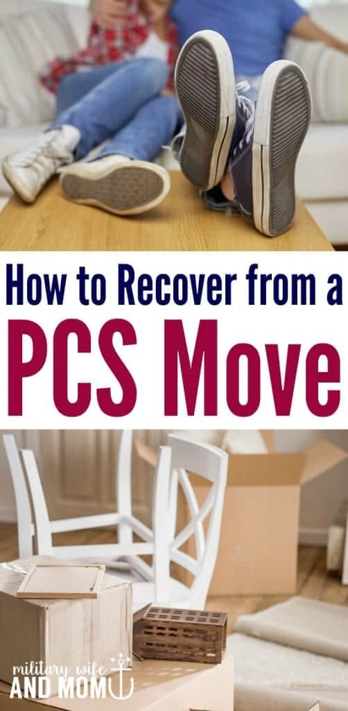 recovery from a military pcs move