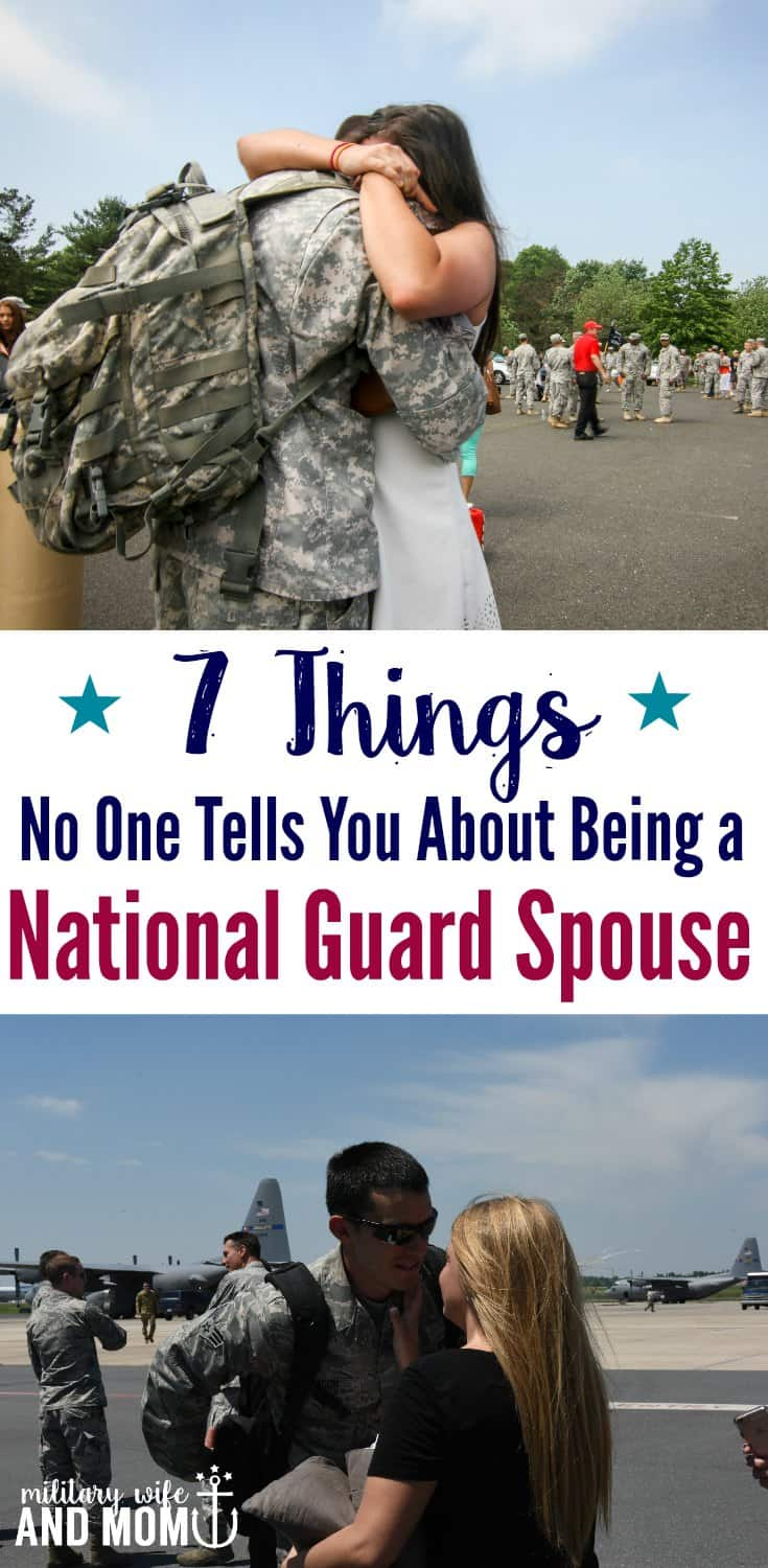 Being a national guard spouse is challenging for so many reasons.