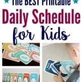 Whether you're looking for a toddler schedule or school-aged routine, this printable daily schedule for kids is customizable and can work for any age!