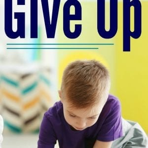 "Learn one phrase that will help you build problem solving skills in kids this school year. If your child says, ""I can't"" or wants to give up, this is the best response."