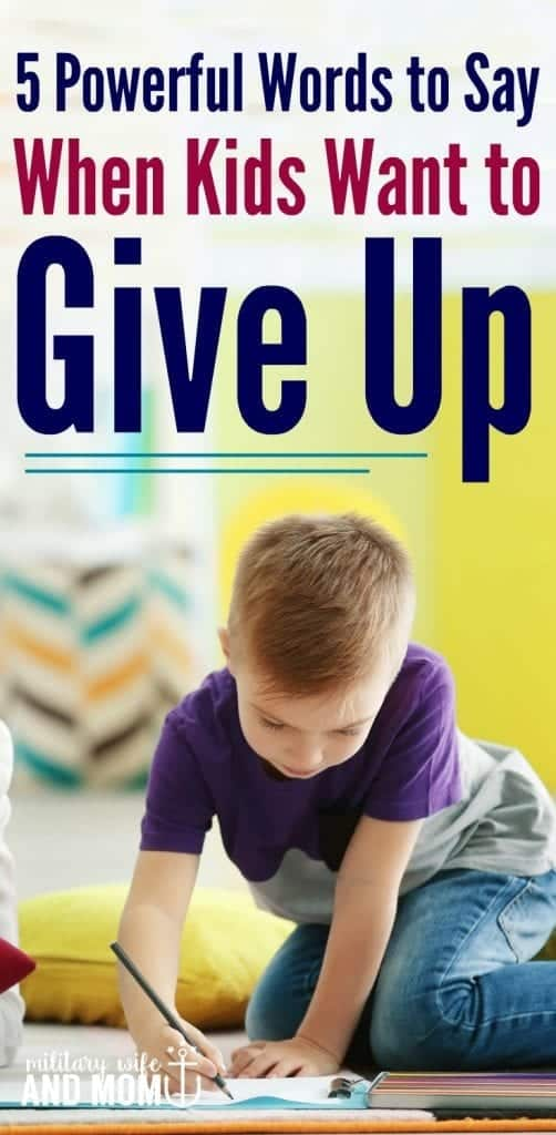 """Learn one phrase that will help you build problem solving skills in kids this school year. If your child says, """"I can't"""" or wants to give up, this is the best response."""