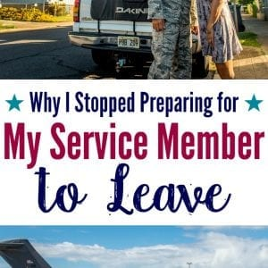 As a military wife, I stopped preparing for my service member to leave. It helped our military family learn to cope with deployment separations. Here's how.