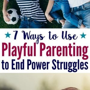 How to end power struggles using a playful parenting game with your kids. Plus, learn 4 reasons why this positive parenting strategy works so well.