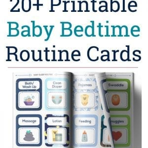 Looking for a newborn routine to help your baby settle into sleep without a fuss? Getting started is easy using this printable baby routine!