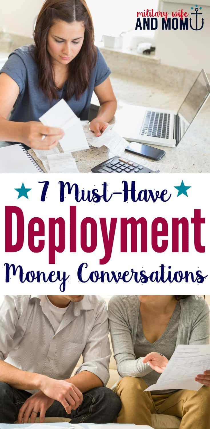 Make sense of your money before deployment! Military spouses and service members should follow these nine conversations before deployment. #military #sponsored #NavyFederalCreditUnion