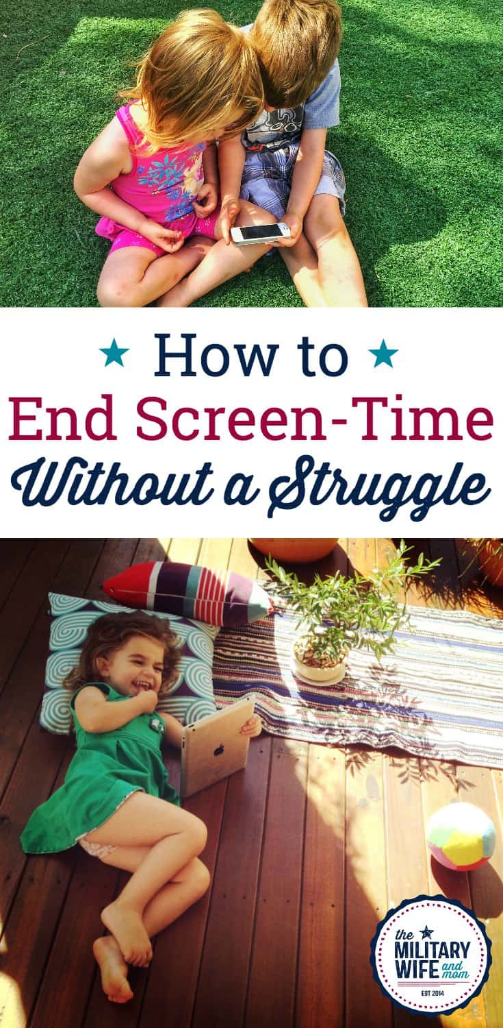 Learn how to end screen time without a struggle in under two minutes. #Positiveparenting #languageoflistening #respectfulparenting