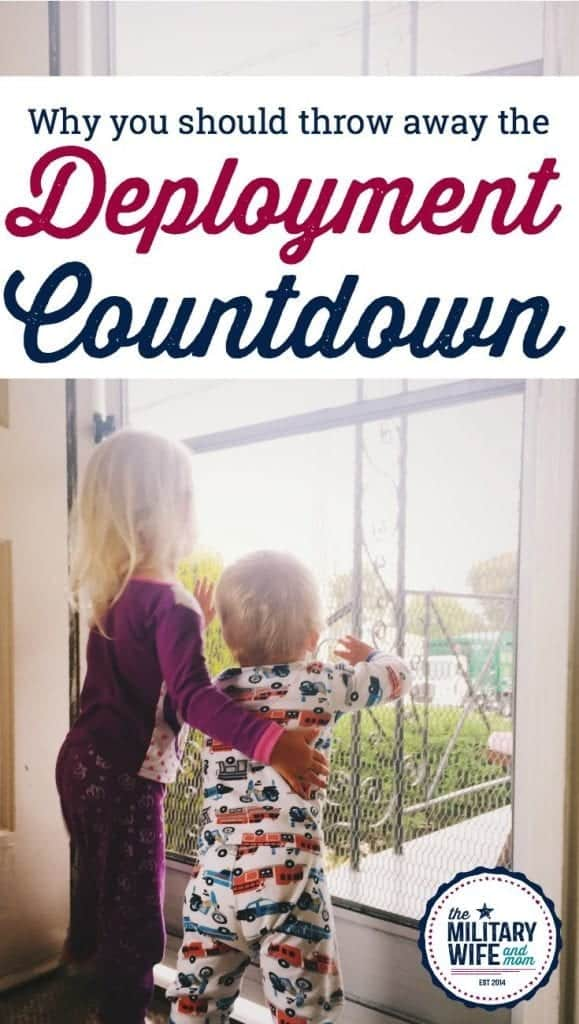 why you should stop using a deployment countdown. #militarylife #deployment #militarywife