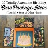 Looking for some military care package ideas that you can use for a birthday care package? Check out this tutorial, plus snag a ton of extra creative ideas at the end.