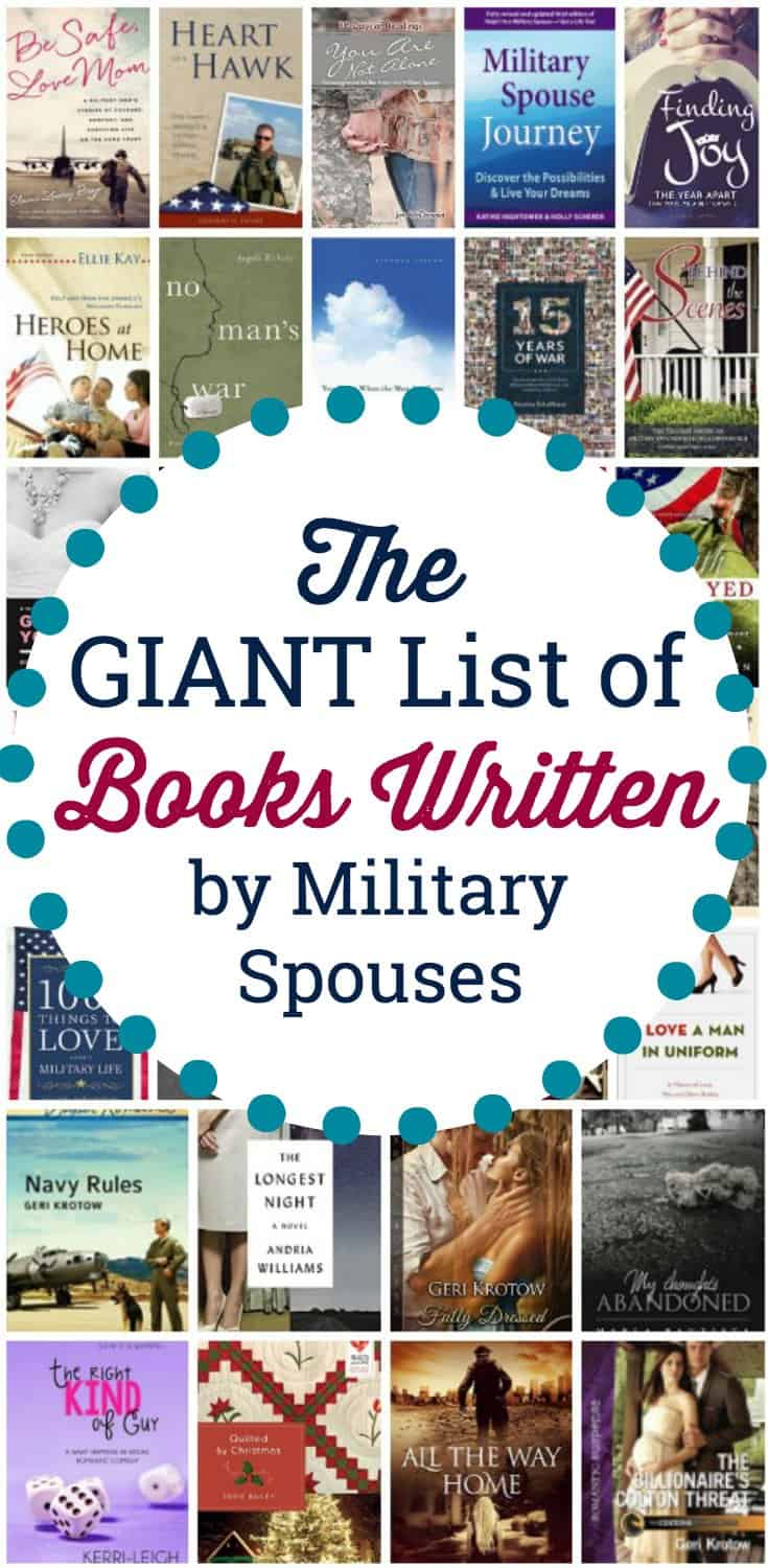 If you are looking for a good book to read, check out these incredible titles written by and for military spouses. Books written by military spouses.