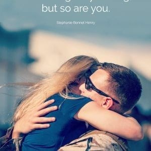 Deployment quotes for military spouses and significant others that will make your heart skip a beat. They're the perfect set of military wife quotes to inspire you during the ups and downs of deployment.
