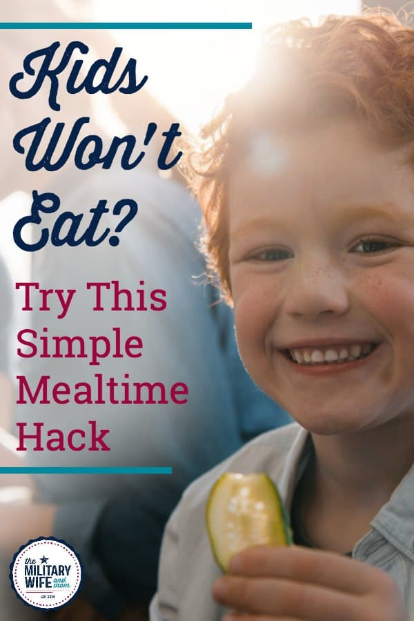 LOVE this simple mealtime hack for when kids won't eat. This is how to get kids to eat vegetables.