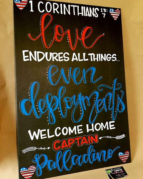 Military Homecoming sign