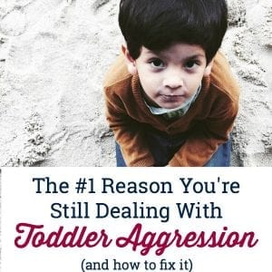 Struggling with toddler aggression? Try this one powerful method to help your child facilitate their own anger and aggression.