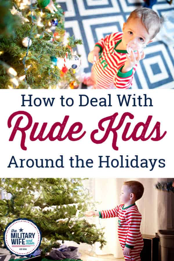 What do you do with rude kids during holiday visits? Especially disrespectful kids when visiting family. Here's how to handle disrespectful kids during the holidays.