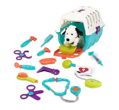 This open ended toy will keep your kids busy in pretend play. Pretend play vet set for kids.