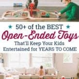 Open ended toys for kids to play with.