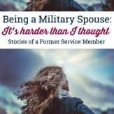 Being a military spouse was harder than I thought. I used to be a former service member and now I was struggle to fill my role as military spouse.