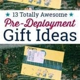 These great pre-deployment gift ideas are small, thoughtful, and meaningful, so they can be treasured no matter how long or harsh the deployment will be. #militarydeploymentideas #predeploymentgiftideas #giftideasforsolider #deploymentgifts