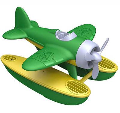 green sea plane bath toy