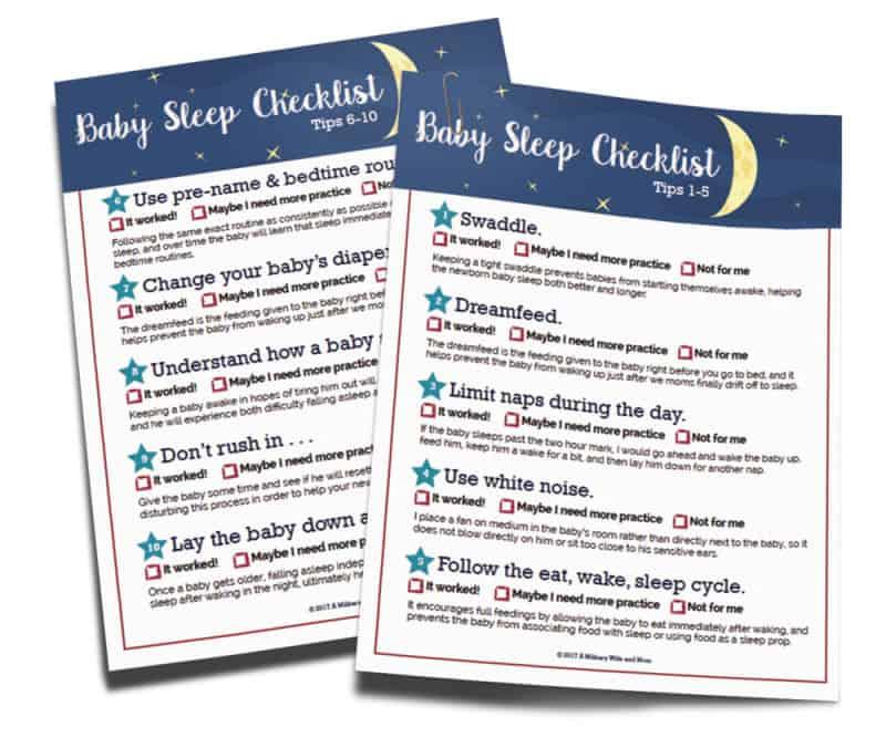 printable baby sleep checklist