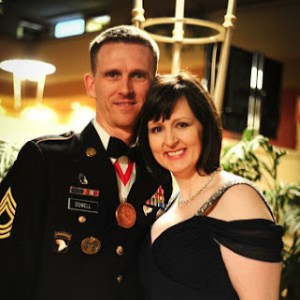 couple at military ball