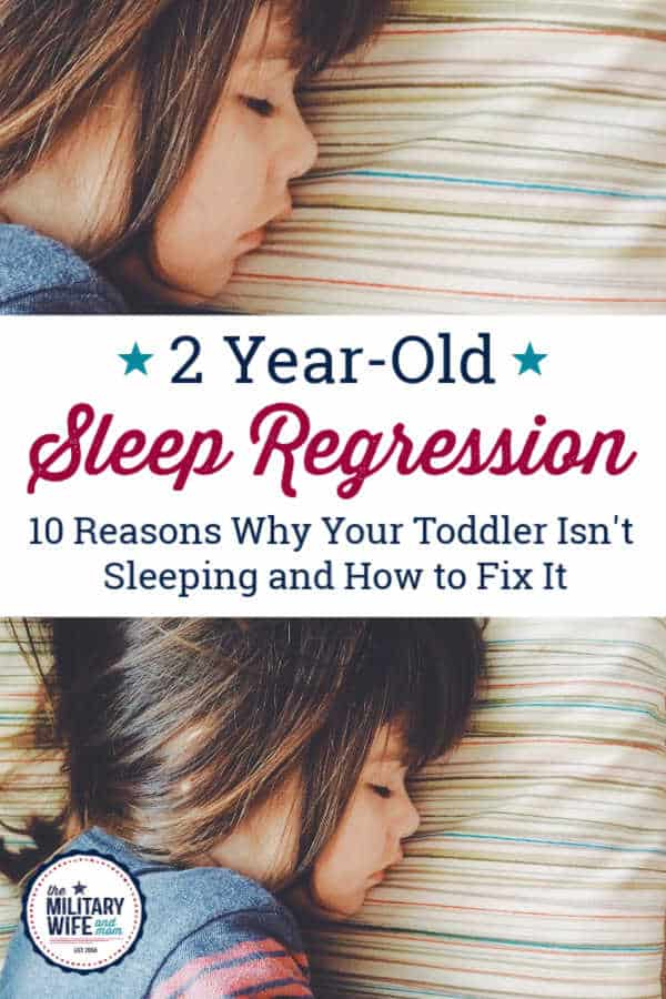 2 year old sleep regression and now toddler is sleeping.
