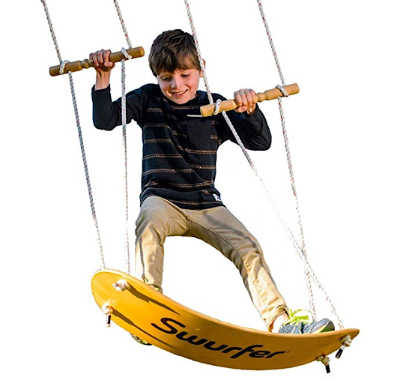 surfing swing for kids to use in the backyard.