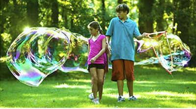Massive bubble maker to use outside to make 20 feet bubbles.