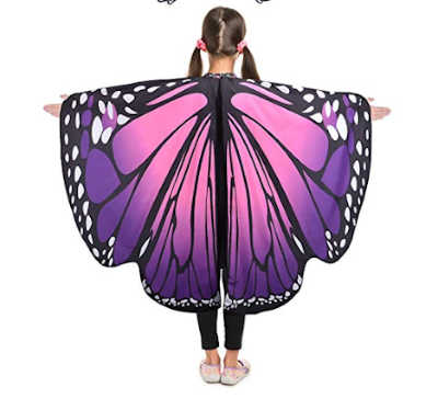Adorable butterfly wings for kids to play pretend outside.