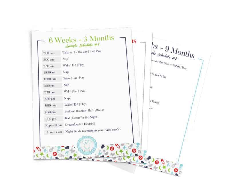 Mock up of printable routines based on Age and Sleep needs.