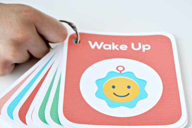 daily routine cards for kids on a ring