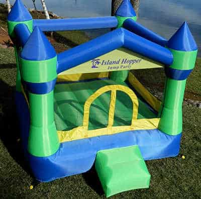 outdoor bounce house for kids to play.