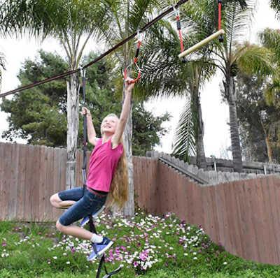 ninja rope for kids playing outside