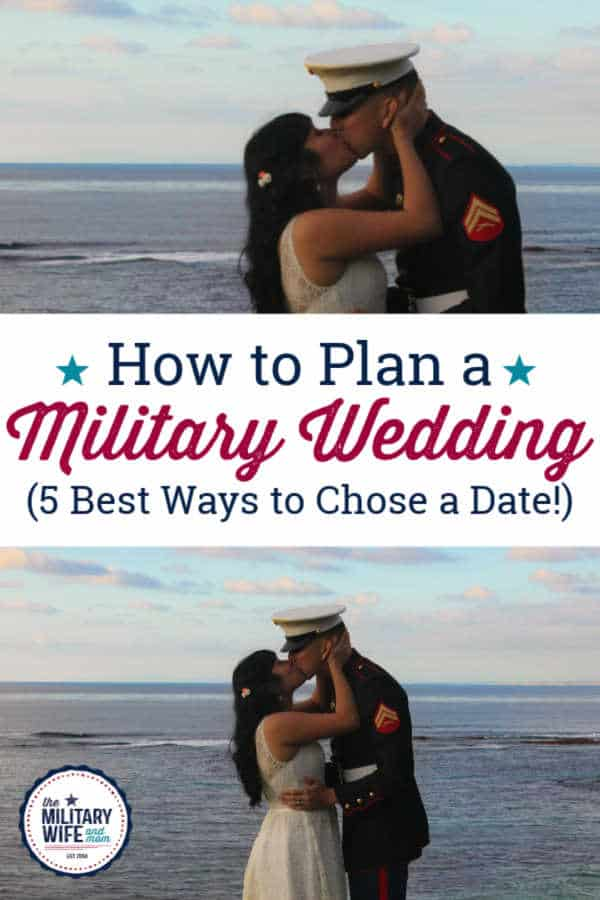 choosing a date for a military wedding