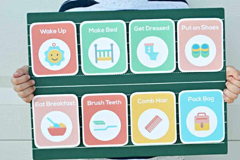 customizable morning routine chart.