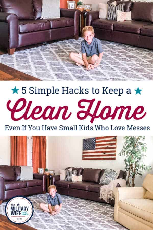 How to keep a clean home with small children