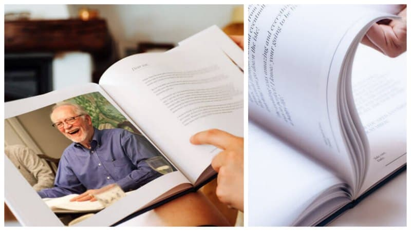 """Memory retirement book from """"From a Birdie"""""""