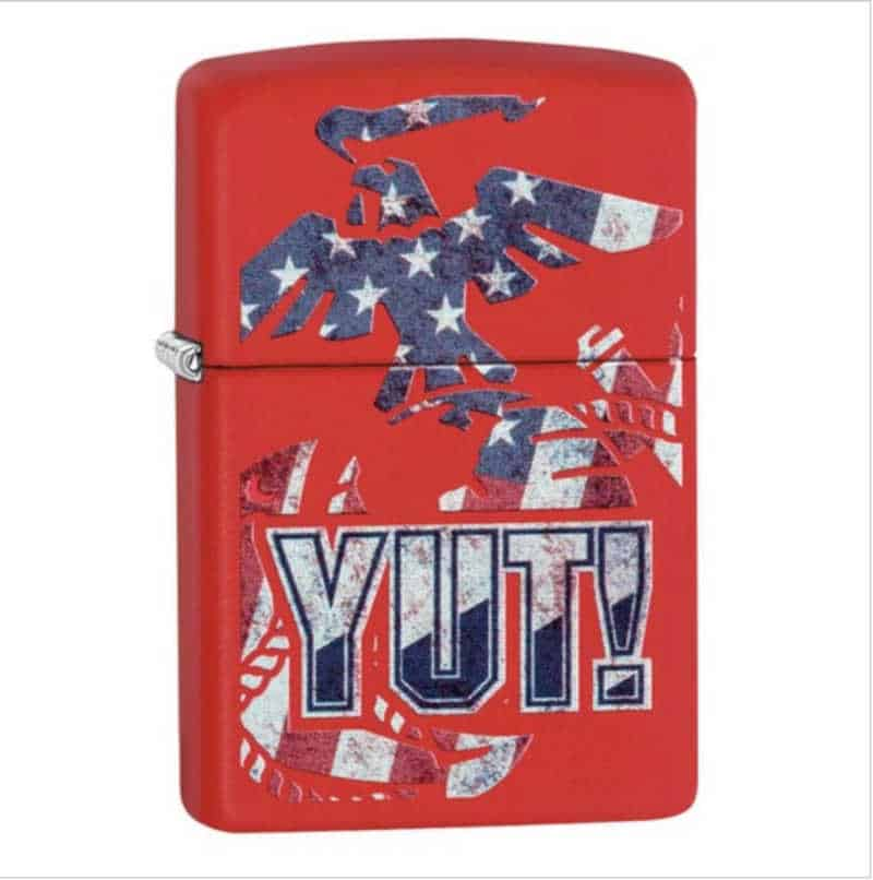 "Marine theme lighter with ""Yut!"""